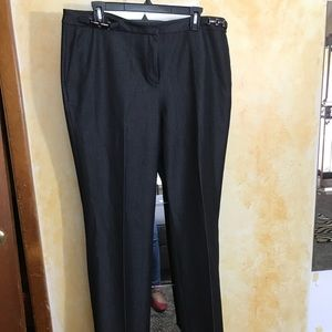 Denim-like Dark Stretchy Trousers size 16.